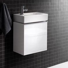 Keramag iCon xs Handwaschbecken-Unterschrank Front und Korpus Alpin 37*42*28 hochglanz oder gemäss Auswahl