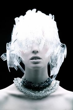 #inspiration #plastic #hair #makeup by #tomaas
