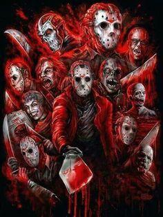 The many faces of Jason Voorhees<<<<<<JAAAAAAAAAAAAAASON