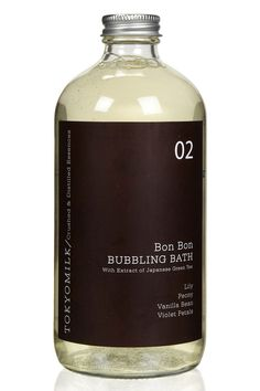 If you're asking us, suds (and lots of them) are the secret to a truly euphoric bath time experience. But it's not just about fizzy fun, this elixir is packed with Japanese green tea, avocado, olive oil, and Vitamin E. Tokyo Milk Bon Bon Bubbling Bath, $22; beautybar.com.   - MarieClaire.com