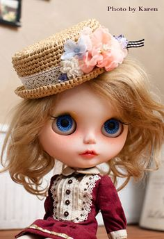 Dolls Handmade Doll Straw Hat Doll Hat Doll Cap For Blythe Custom Outfit Dolls & Bears