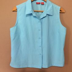 Women's mossimo xl blue blouse Great condition great summer blue button up blouse Mossimo Supply Co Tops Button Down Shirts