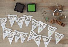 guirnaldas con blondas de papel - Buscar con Google