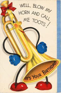 Funny Happy Birthday Images, Happy Birthday Text, Happy Birthday Vintage, Happy Birthday Wishes Quotes, Cool Birthday Cards, Birthday Card Sayings, Birthday Greeting Cards, Birthday Fun, Birthday Greetings