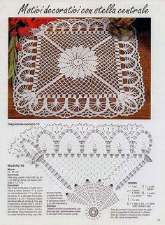 Best 11 New melange crochet doily inches-crochet tablecloth-crochet doilies-christmas gift-melange doily-medium doily-pink doily – SkillOfKing. Filet Crochet, Crochet Doily Diagram, Crochet Doily Patterns, Crochet Chart, Crochet Squares, Thread Crochet, Crochet Granny, Diy Crafts Crochet, Crochet Home