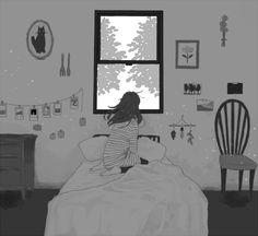 Sometimes I wonder who you see when you look at me. Manga Girl, Anime Manga, Anime Girls, Anime Art, Otaku, Kawaii Illustration, Art Background, Illustrations And Posters, Pictures To Draw