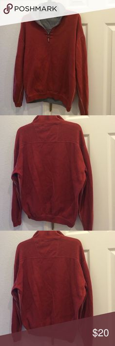 IZOS Reversible Sweater Reversible sweater rustic orange and gray. Size M. Izod Sweaters Zip Up