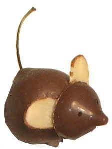 Cherry Mice  This is sooooo cute!                      Ingredients and Supplies              Cocoa Lite    1 pound dry fondant    2 tablespoons milk    6 Tablespoons butter    Sliced almonds    Long stemmed cherries