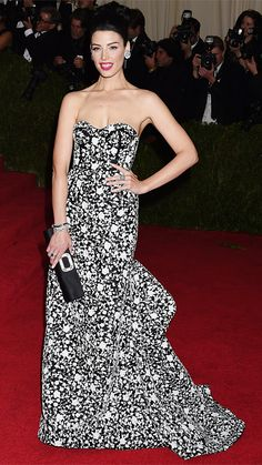 2014 Met Gala Red Carpet - Jessica Pare in Michael Kors from #InStyle