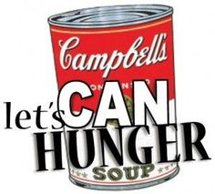 Souper Bowl Can Food Drive | Youth Group | Pinterest | Can holders ...