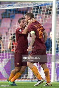 News Photo : Alessandro Florenzi and Daniele De Rossi of AS...