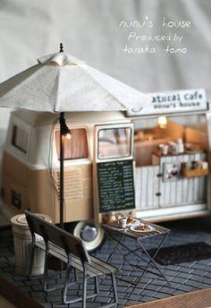 田中智のミニチュア作品 移動販売cafe