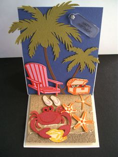 Cricut Lifes A Beach | ... Creations By Lorraine: A Day At The Beach Easel Card-Life's A Beach