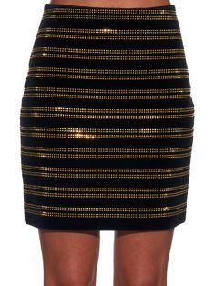 Embellished velvet mini skirt | Balmain | MATCHESFASHION.COM UK