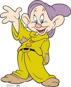 Disney's Snow White and the Seven Dwarves - Dopey Lifesize Standup Cardboard Cutouts at AllPosters.com
