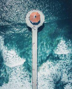 Aerial Shot   Manhattan Beach Pier