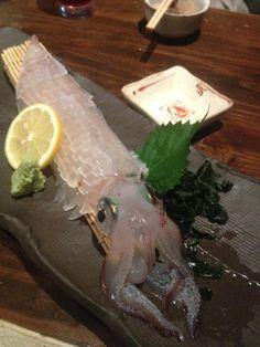 Sashimi of a whole squid. #Japan #food
