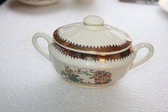 B9 Vintage Cronin China Co Sugar Bowl and Lid by CRAZYMARYSFINDS