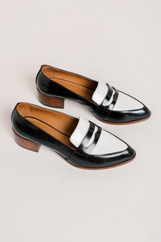 88a32f58e24 Thelma The Penny Loafer - Black Spectator