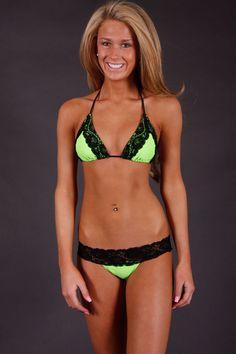 Lime Lacey Bikini