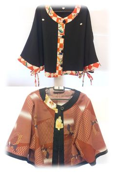 New released『Wafu Colle』Kimono cape☆  Useful in this winter♪  You can make this cape not by Kimono cloth♡ http://blog.kobecoffee.com/2012/10/wafu-colle2.html
