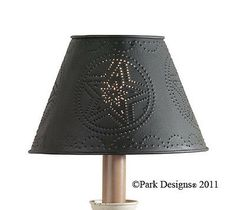 Lamp Shade - Punched Tin Metal Star in Black by Park Designs - or Candle Shades, Ceiling Lamp Shades, Art Nouveau, Primitive Pillows, Star Lamp, Metal Stars, Tin Candles, Star Patterns, Diy