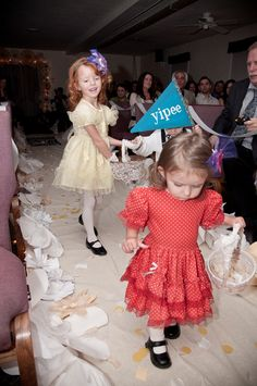 The little girls were our confetti-throwers.