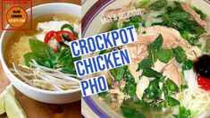 Slow-Cooker-Pho-as-seen-on-Slow-Cooker-Society-Yummy-Delicous Chicken Pho, Slow Cooker Chicken, 3 Ingredient Orange Chicken Recipe, Vietnamese Soup, Pho Recipe, Vermicelli Noodles, Stuffed Whole Chicken, Other Recipes, Kitchens