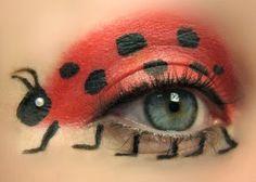 Pintar la cara en carnavales mariquita