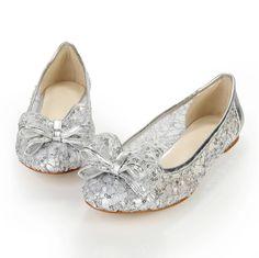 67603c0776d Custom Made Cheap Silver Bridal Shoes for Bride Bridesmaid Party Women s  Wedding Evening Pageant Ballet Ballerina