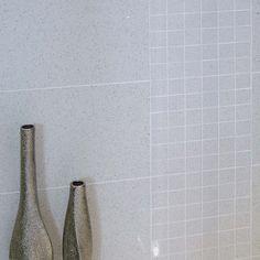 Gemstone White Wall and Floor Tile 30cm x 60cm - Black And White Bathroom Ideas - White Tiles - Better Bathrooms