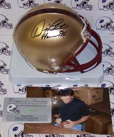 3fa190a60 This Boston College Eagles Mini Helmet has been hand signed by Doug Flutie.  Mr.