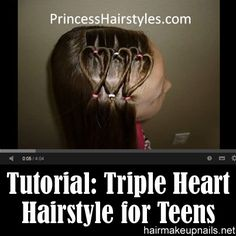 Triple Heart Hairstyle For Teens
