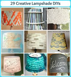 29 Creative Lampshade DIYs from some awesome creative bloggers!