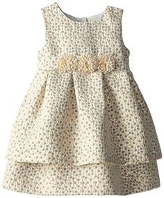 Pippa & Julie Little Girls' Brocade Party Dress, Gold, 3T Pippa & Julie