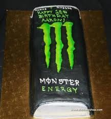 2D Monster Energy Drink cake