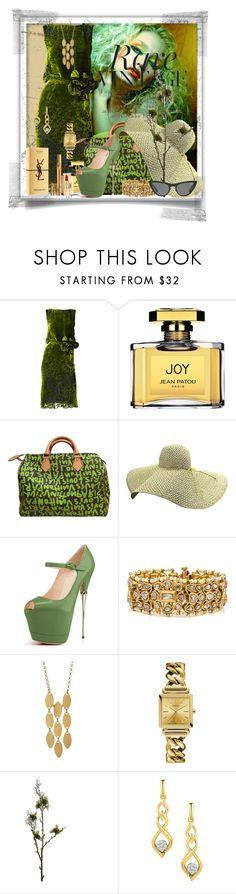 """Moss Green"" by irene-sousa2 ❤ liked on Polyvore featuring Jean Patou, Louis Vuitton, Argento Vivo, GUESS, Wyld Home, Yves Saint Laurent, Victoria, Victoria Beckham, contest, moss and fiftyshadesofgreen"