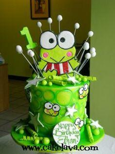 Keroppi Cake - I want this cake for me!