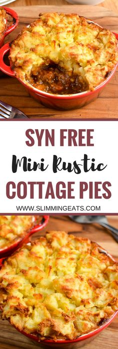 Slimming Eats Syn Free Mini Cottage Pies - gluten free, dairy free, paleo, Slimming World and Weight Watchers friendly