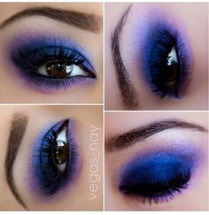 Bright smoky eyes color