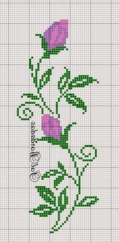 Really nice Cross-Stitch towel flower pattern. Cross Stitch Rose, Cross Stitch Borders, Cross Stitch Flowers, Cross Stitch Charts, Cross Stitch Designs, Cross Stitching, Cross Stitch Embroidery, Embroidery Patterns, Hand Embroidery