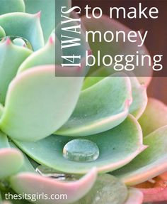 Blogging Tips | 14 ways you can make money blogging - most of these are things you can start doing today!