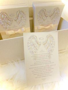 "Baby Shower ""Bring a Book"" angel wing cards xo embellishments"