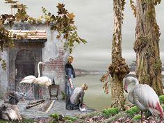 surrealistische montage foto's