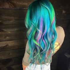"""1,492 Likes, 45 Comments - Houston TX  Hair Artist (@wesdoeshair) on Instagram: """"Had some fun today on my babe @dear_liz using @pulpriothair vivids  do you guys think blue is…"""""""