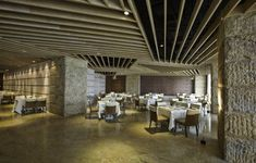 restaurant designs | restaurant interior stone wall design restaurant lobby interior design ...
