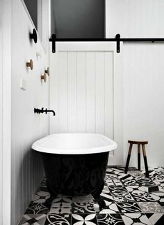 my scandinavian home black and white bathroom - Wohneinrichtung Bad Inspiration, Decoration Inspiration, Bathroom Inspiration, Bathroom Ideas, Design Bathroom, Bathroom Trends, Bathroom Interior, Tile Design, Houzz Bathroom