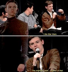 Thomas Brodie-Sangster would camp out all night to see Star Wars - and finally becomes part of it.