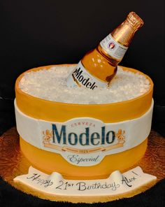 Boy Cakes, Cakes For Boys, Modelo Beer, Birthday Cake, Birthday Cakes, Cake Birthday, Birthday Sheet Cakes