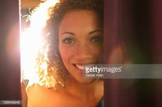 Stock Photo : Close up of womans smiling face